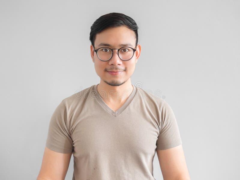 asiatisk lycklig man royaltyfria foton