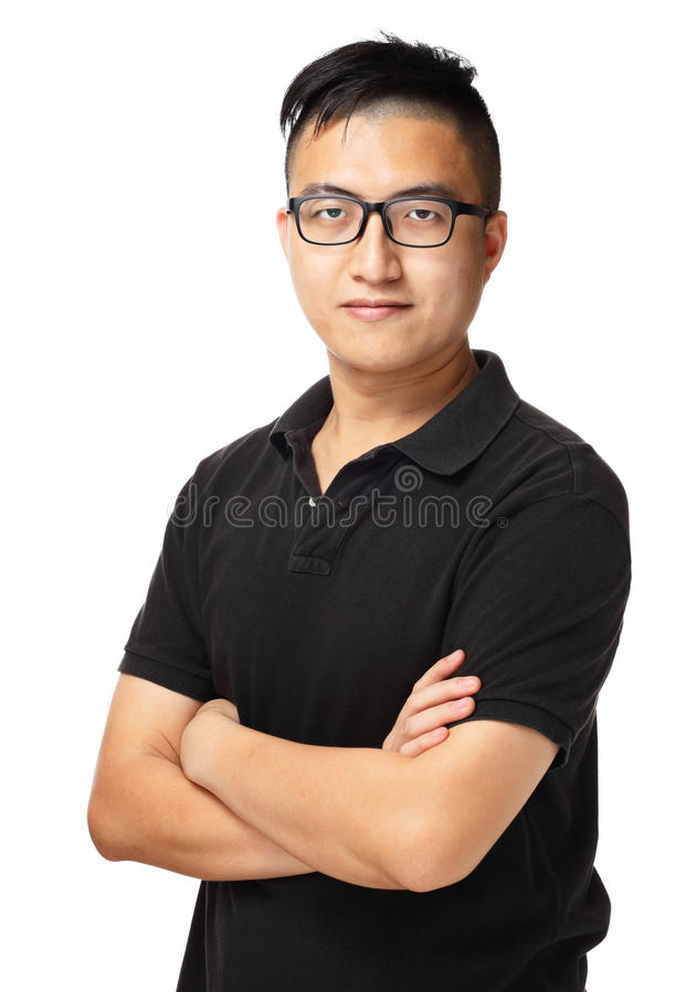 Asiatisk manstående royaltyfria foton