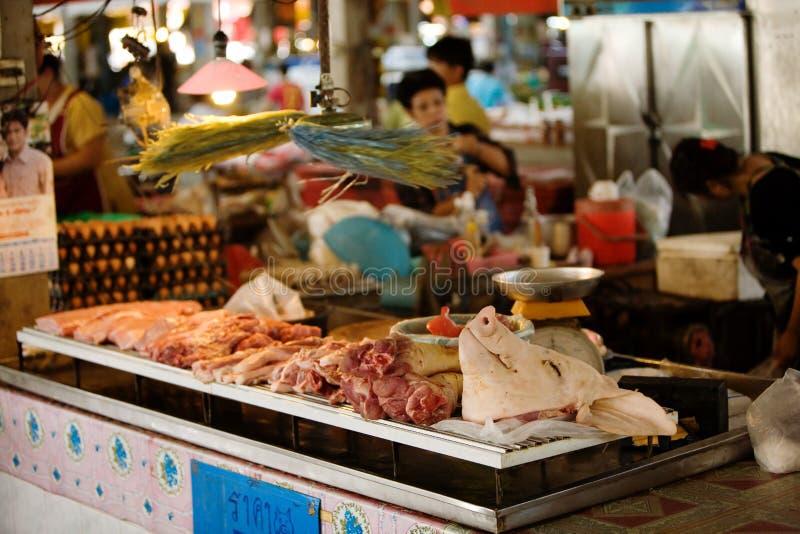 asiatisk marknadsmeat royaltyfri foto