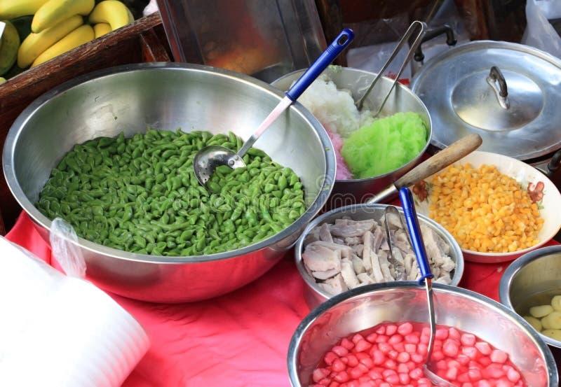 asiatisk matmarknad arkivbild