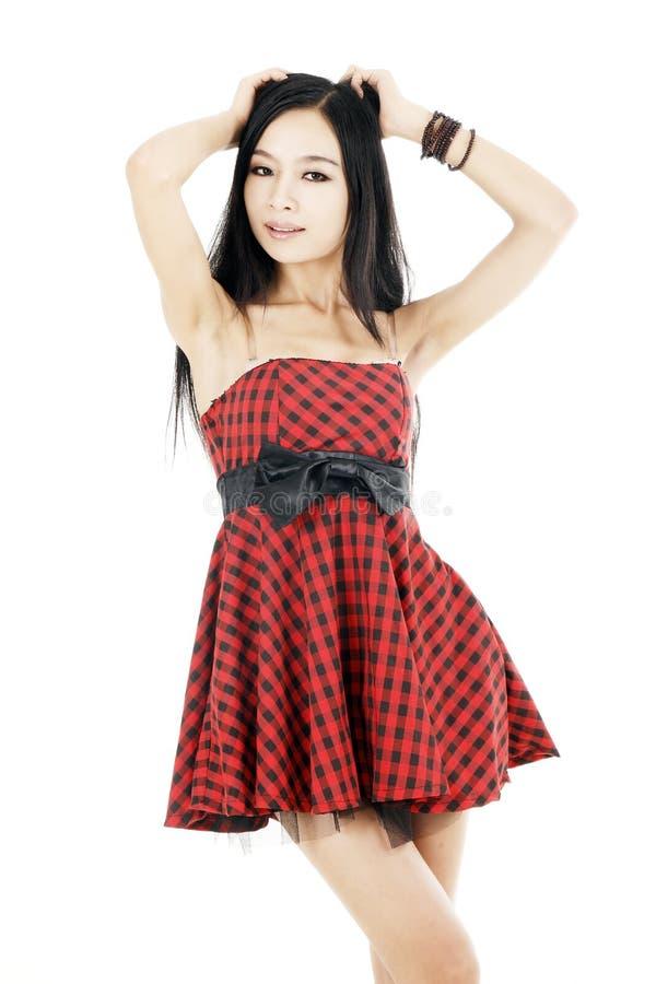 asiatisk modeflicka royaltyfri foto