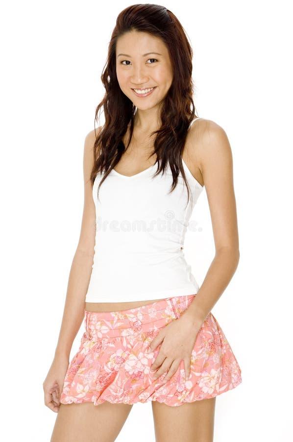 Asiatisk modell royaltyfria bilder