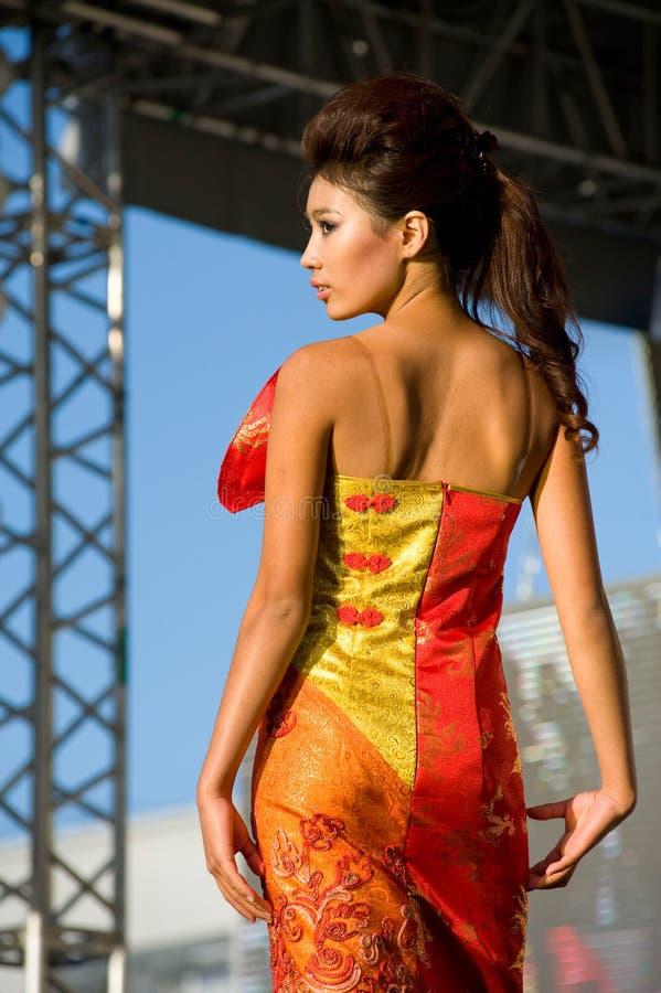 asiatisk modell royaltyfria foton
