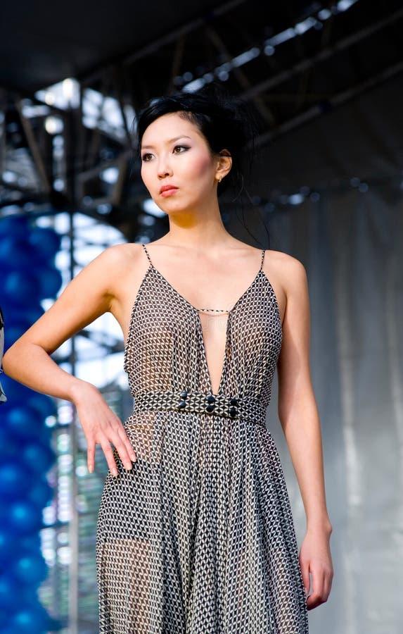 asiatisk modell arkivfoton