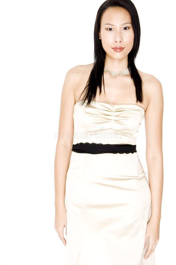 Asiatisk modell royaltyfri bild