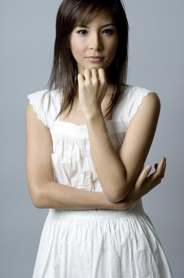 Asiatisk modemodell royaltyfri fotografi
