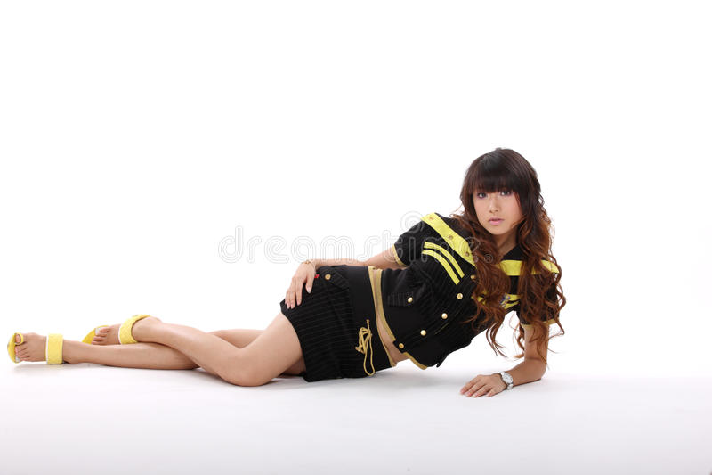 asiatisk modemodell royaltyfria bilder
