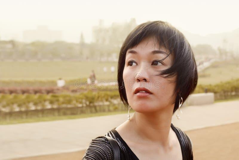 asiatisk mogen kvinna royaltyfria foton