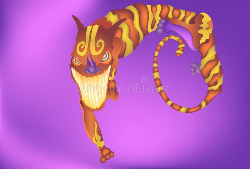 asiatisk myth royaltyfri illustrationer