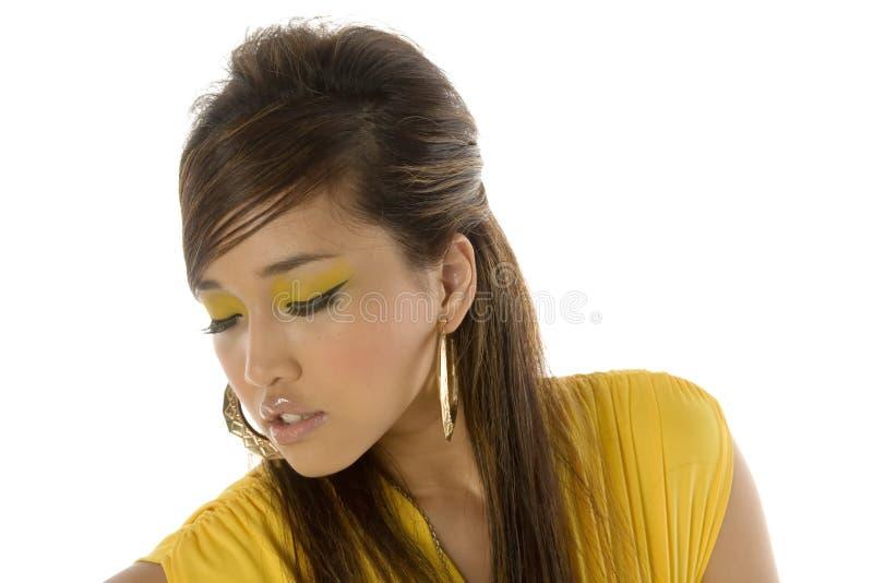 asiatisk nätt kvinna royaltyfri foto