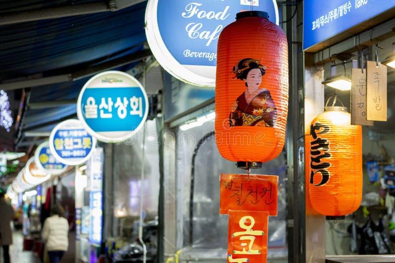 Asiatisk nattmarknad royaltyfri foto