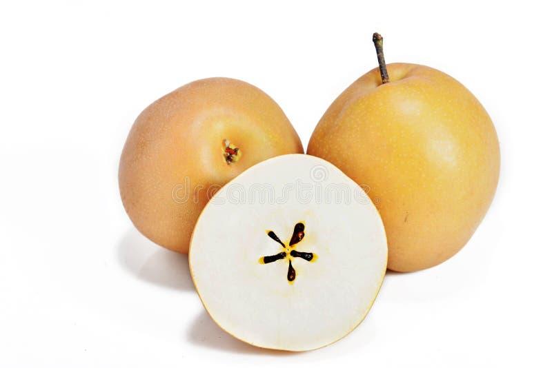 Asiatisk päronfrukt- eller pyruspyrifolia royaltyfria bilder