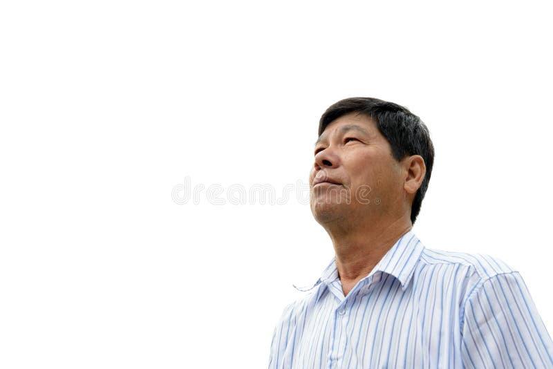 Asiatisk pensionär royaltyfri fotografi