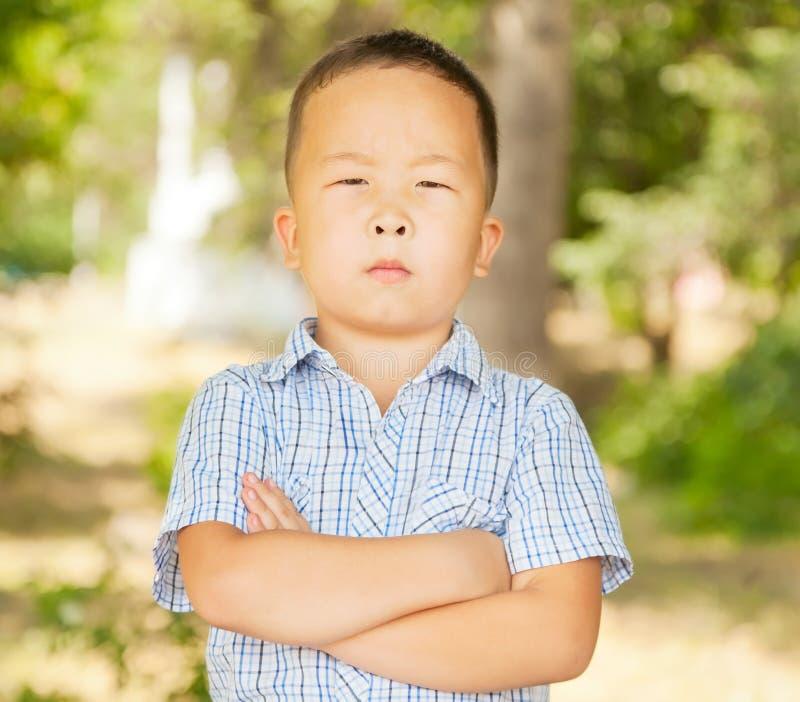 Asiatisk pojke 6 år royaltyfri fotografi