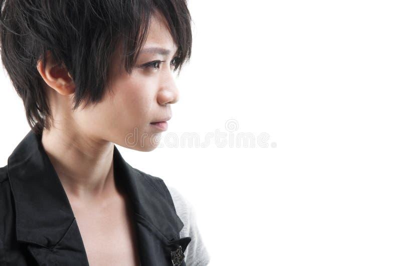 Asiatisk Punk flicka royaltyfri foto