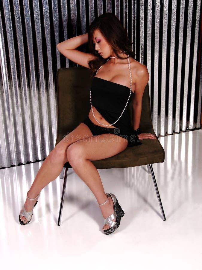 asiatisk sexig kvinna royaltyfria bilder