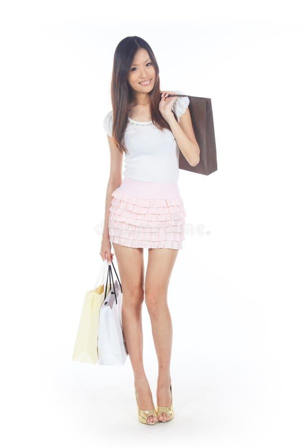 asiatisk shoppare fotografering för bildbyråer