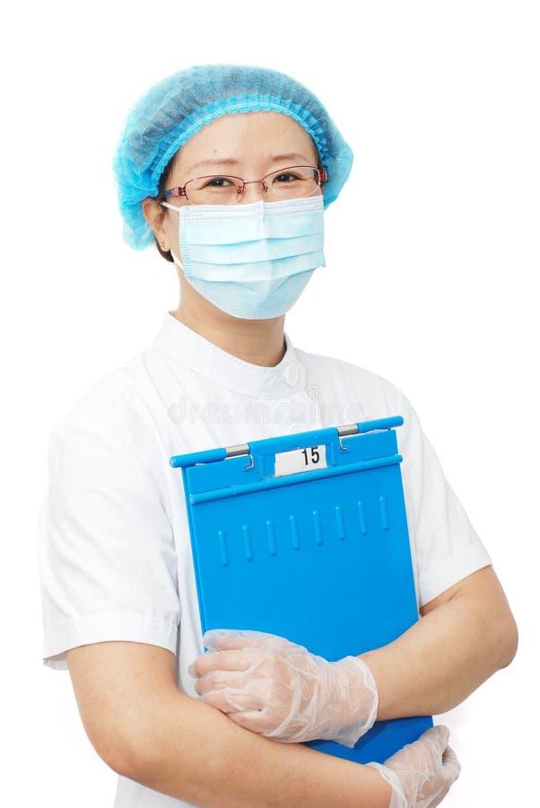 asiatisk sjuksköterska arkivfoton
