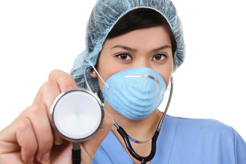 asiatisk sjuksköterskakvinna royaltyfri foto