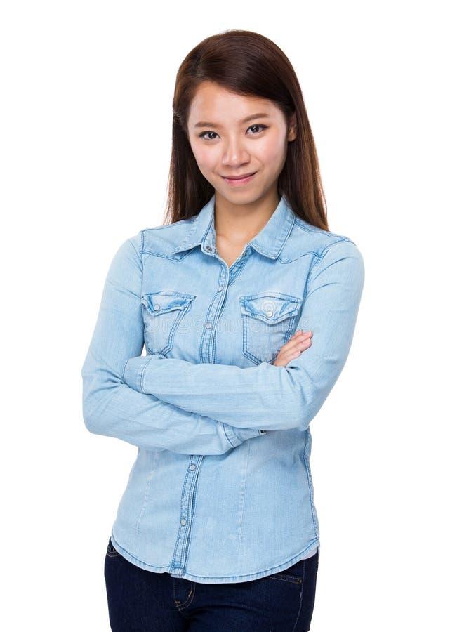 asiatisk ståendekvinna royaltyfria bilder