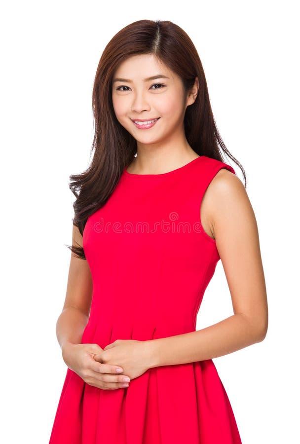 asiatisk ståendekvinna royaltyfri fotografi