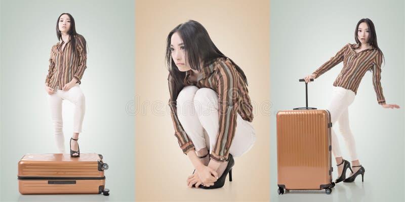 asiatisk ståendekvinna royaltyfri bild