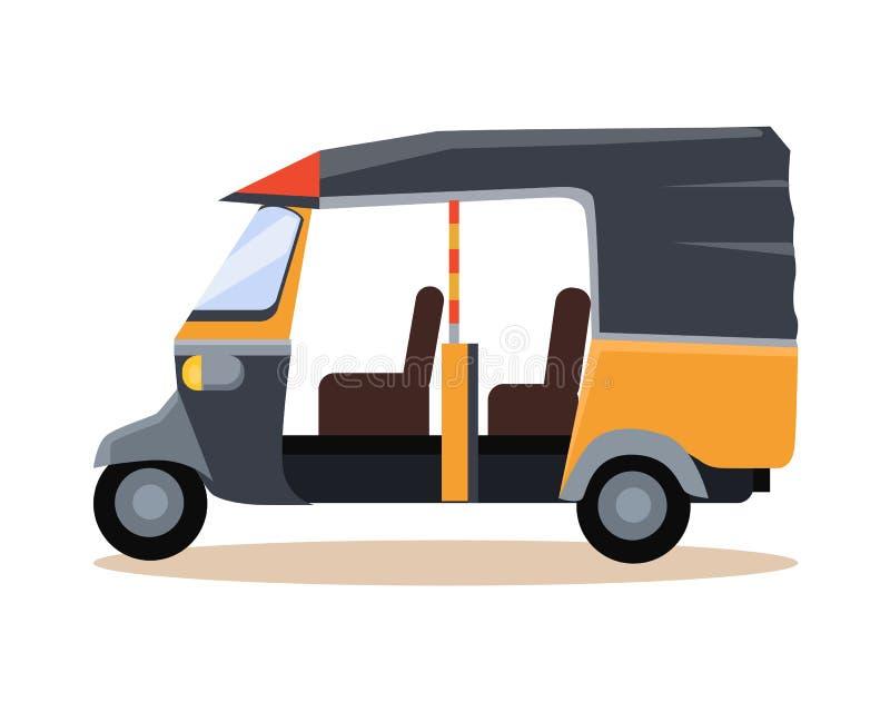 Asiatisk taxisymbol royaltyfri illustrationer