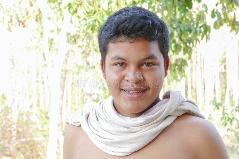 Asiatisk thailändsk manframsida arkivfoto