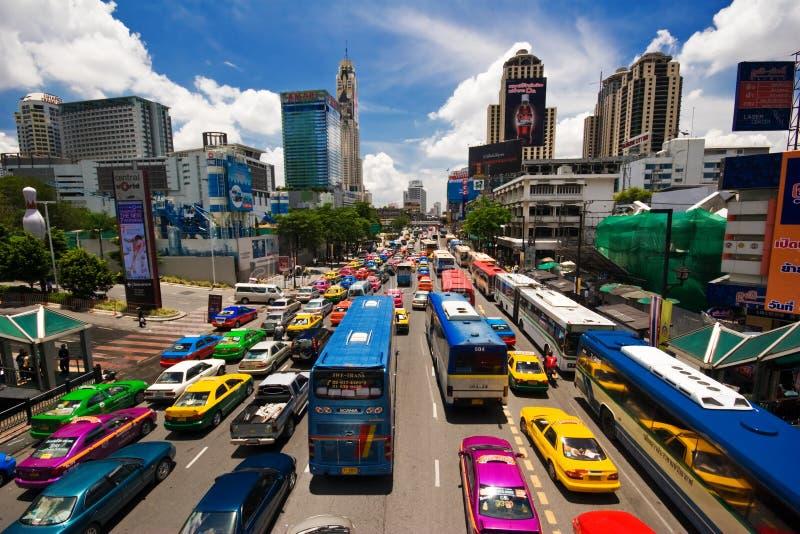 asiatisk trafik arkivbild