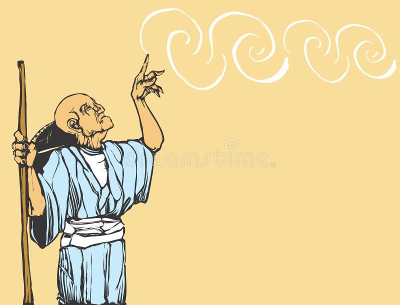 asiatisk trollkarl vektor illustrationer