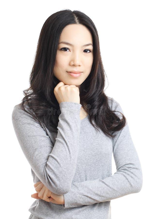 Asiatisk ung kvinna arkivfoton