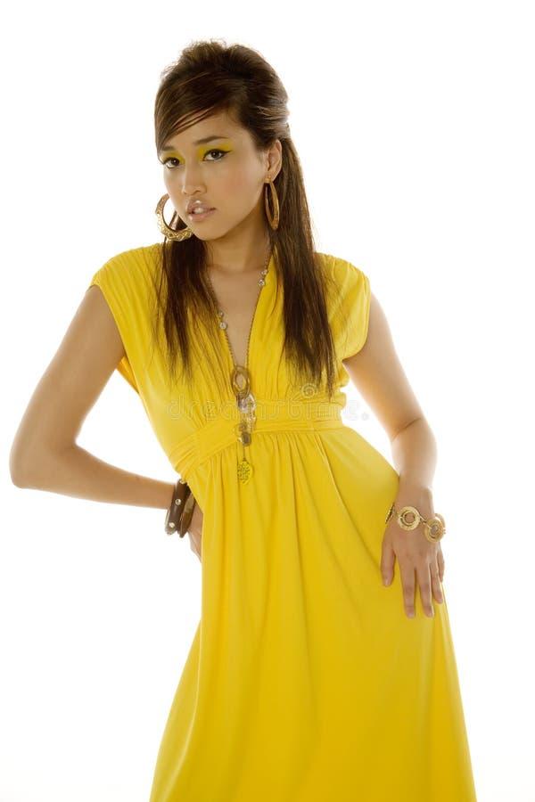 asiatisk ursnygg kvinna arkivbilder