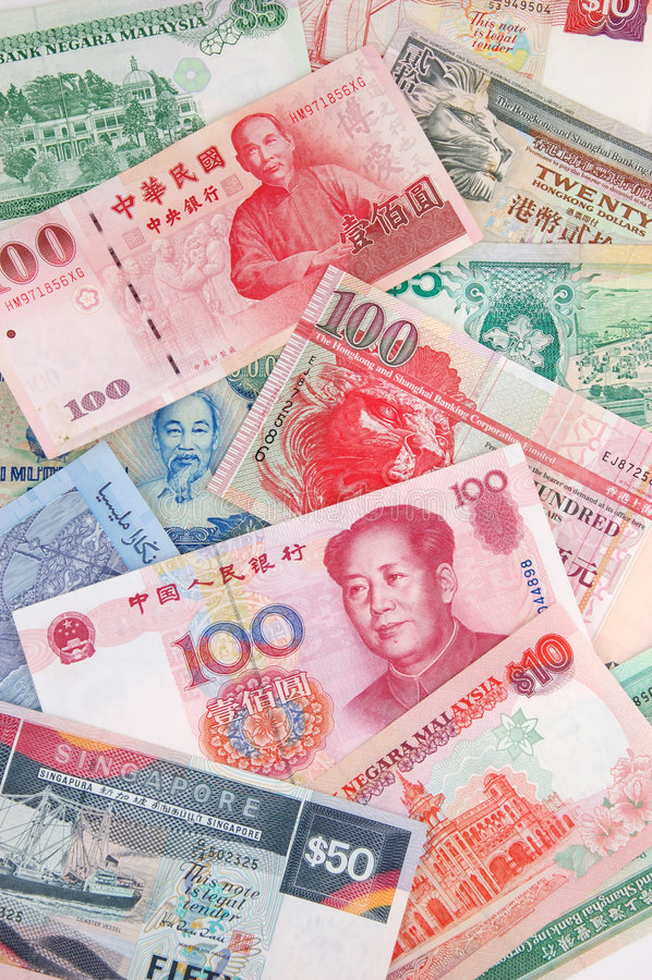 asiatisk valuta arkivfoton