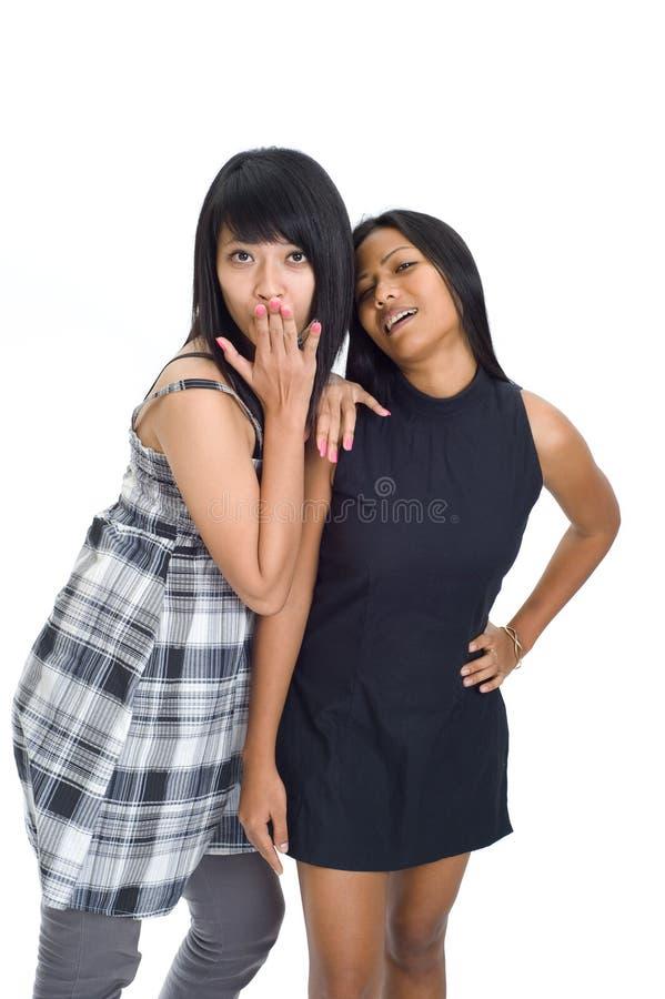 asiatiska flickor två barn royaltyfri fotografi