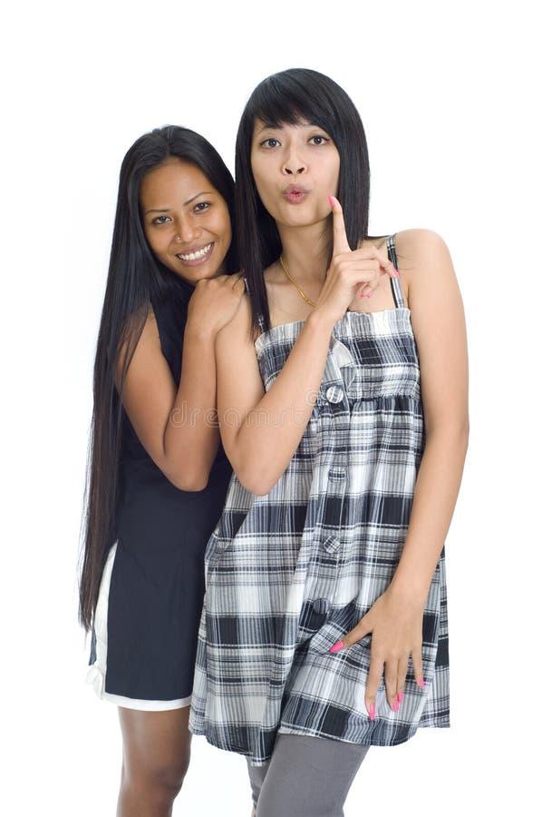 asiatiska flickor två barn fotografering för bildbyråer