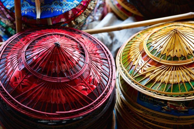 asiatiska hattar royaltyfria bilder