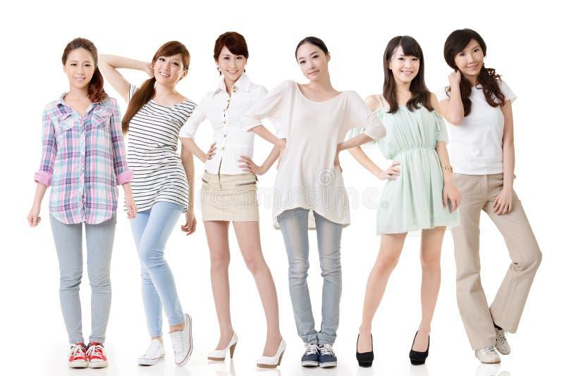 Asiatiska kvinnor royaltyfri fotografi