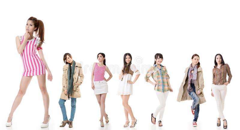 asiatiska kvinnor arkivfoton
