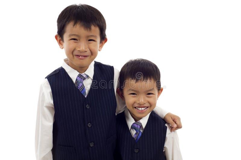 asiatiska pojkar royaltyfria bilder