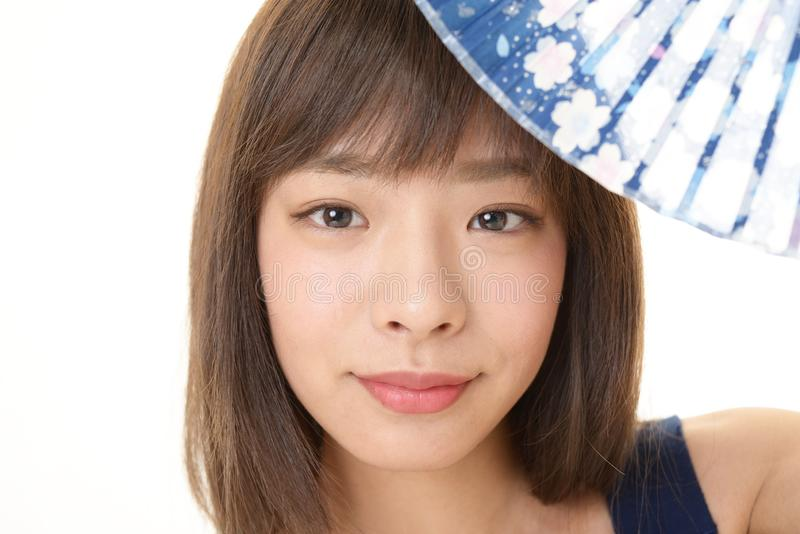asiatiskt attraktivt kvinnabarn royaltyfri fotografi
