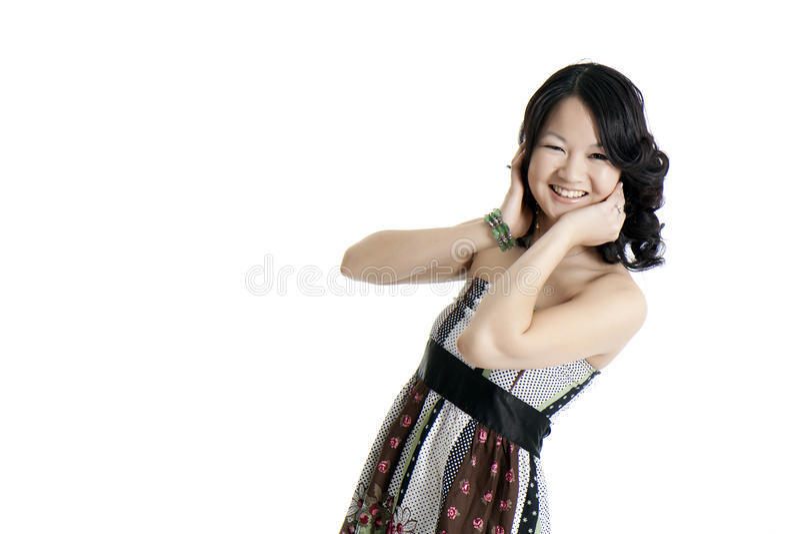 asiatiskt barn för modemodell arkivfoto