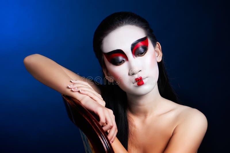 asiatiskt härligt mer min kvinna för portföljståendeserie royaltyfri foto
