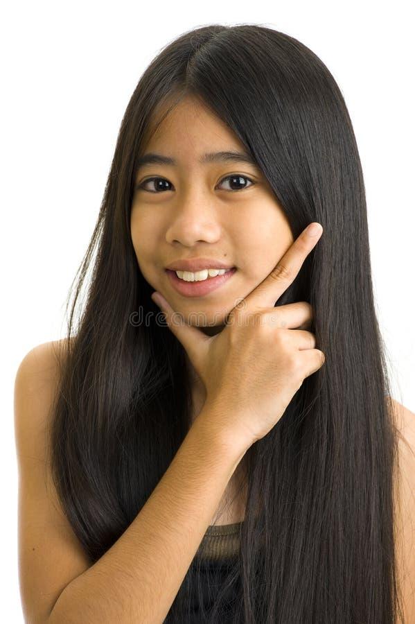 asiatiskt härligt teeny royaltyfri fotografi