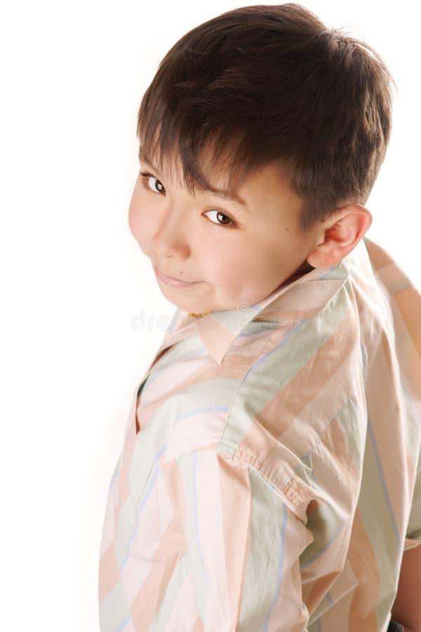 asiatiskt le för pojke arkivfoton