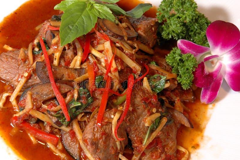 asiatiskt nötkött arkivfoto