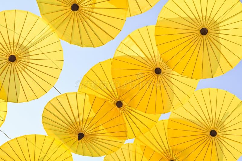 Asiatiskt paraply royaltyfria foton