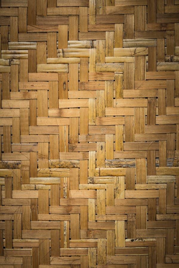 Asiatiskt texturerad bakgrund för bambu handarbete arkivfoto