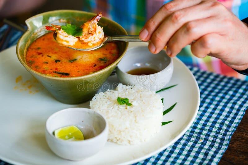 Asiats-Tom Yum-Suppe lizenzfreie stockfotos