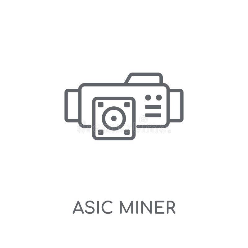 asic矿工线性象 现代概述asic矿工商标概念o 库存例证