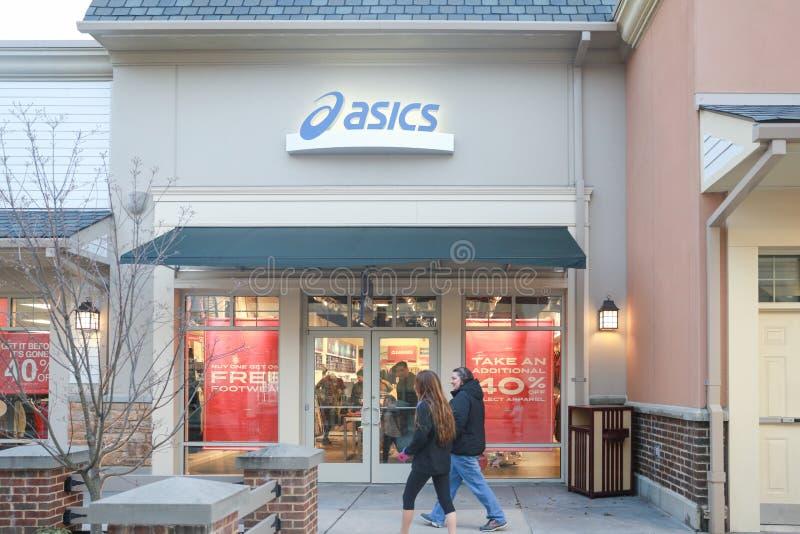 Asics sklep w Nowym - bydło fotografia stock
